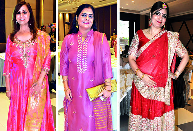 (L) Padmini Pamnani (C) Sonu Arora (R) Teena Arora (BCCL/ AS Rathor)