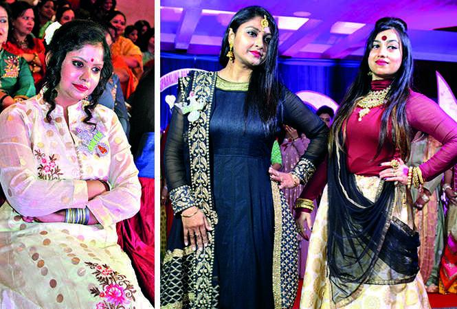 (L) Shagun Jain (R) Vijaya and Monalisha (BCCL/ Arvind Kumar)