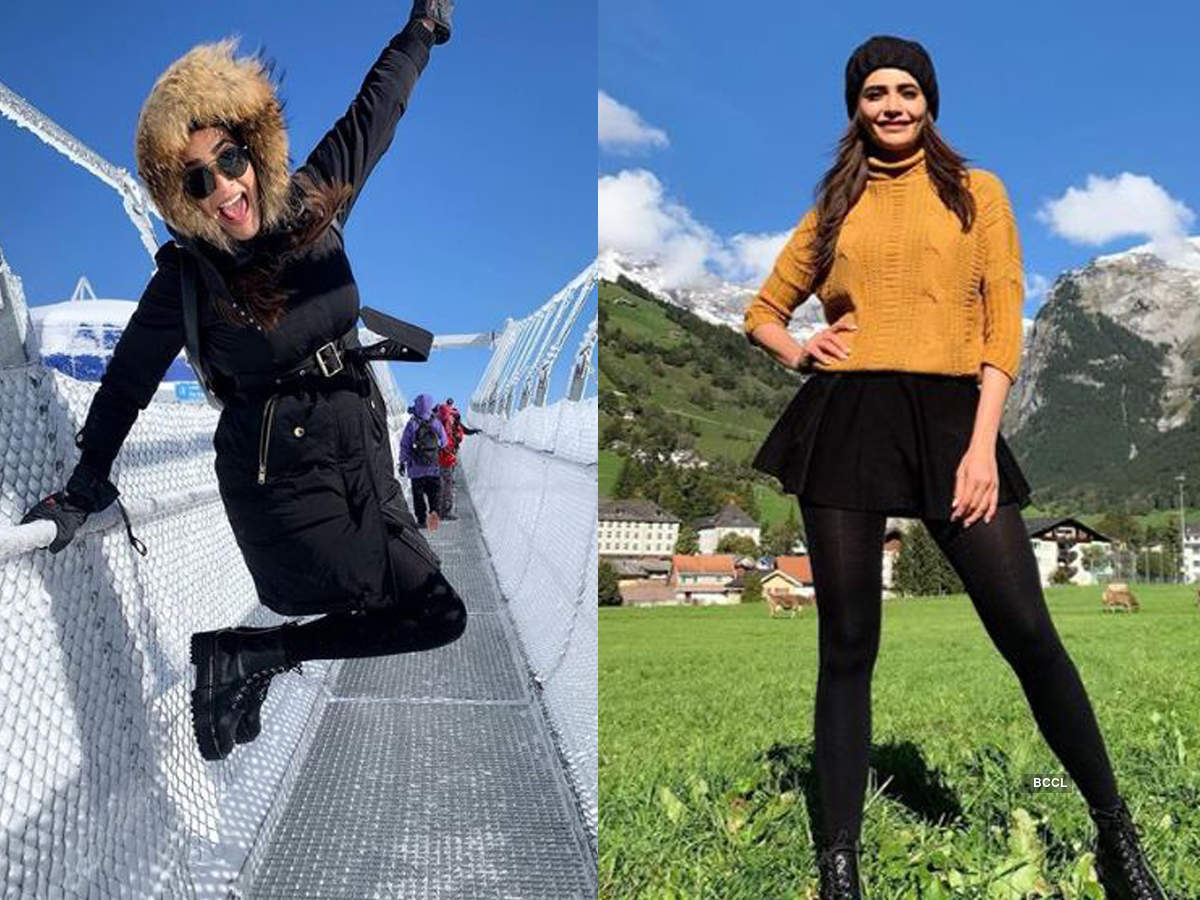 Stunning pictures of Karishma Tanna holidaying in Switzerland