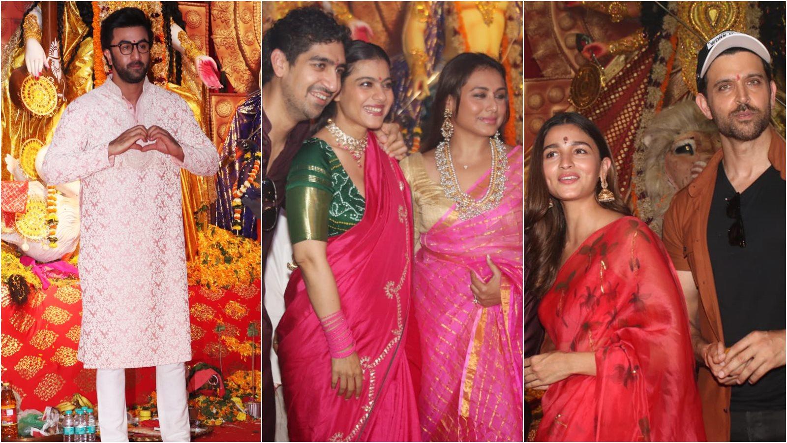 Durga Puja: Alia Bhatt, Ranbir Kapoor, Hritik Roshan and Ayan Mukerji join Kajol for celebrations