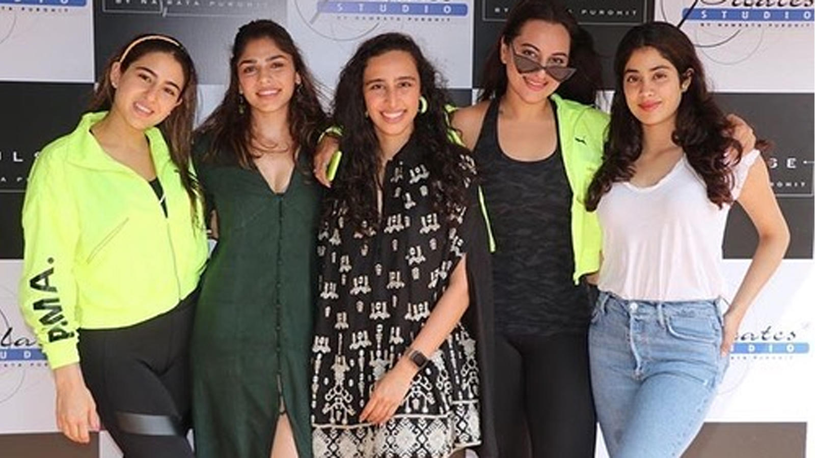 Sonakshi Sinha, Sara Ali Khan and Janhvi Kapoor at pilates instructor Namrata Purohit's birthday bash
