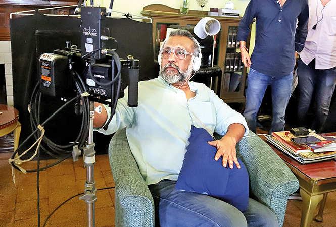 Anubhav Sinha checking out the shot on the camera (BCCL/ Aditya Yadav)