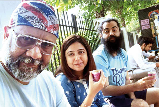 The Article 15 director posted this pic on Instagram with the caption 'Last street tea in  Lucknow this trip' (sic) (BCCL)