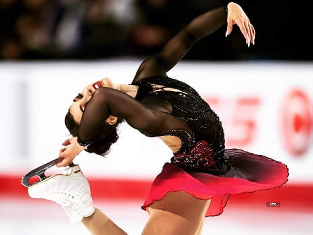 Figure skater Gabrielle Daleman shows off her mesmerising moves in these pictures