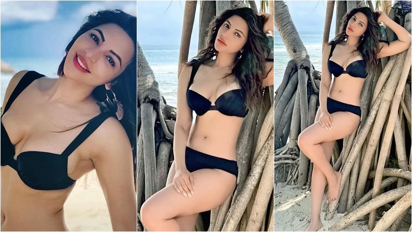 Shama Sikander flaunts her envious body in smouldering black bikini