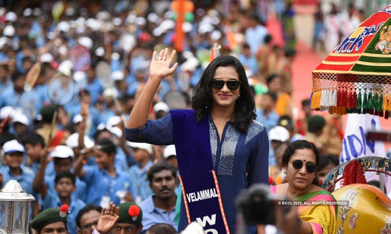 Spectacular pictures from PV Sindhu's felicitation ceremonies