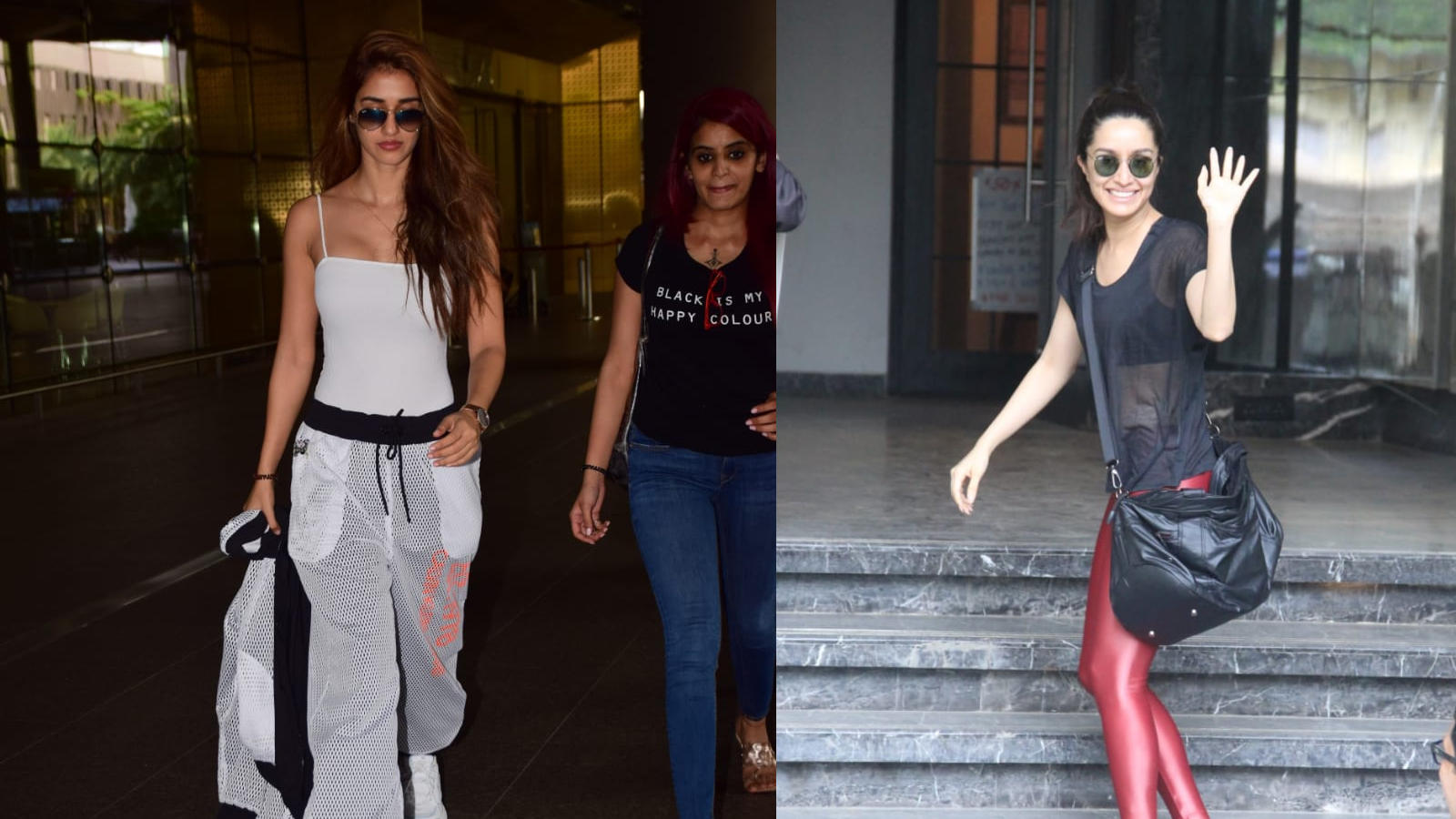 Disha Patani clicked at Mumbai airport, Shraddha Kapoor spotted outside gym