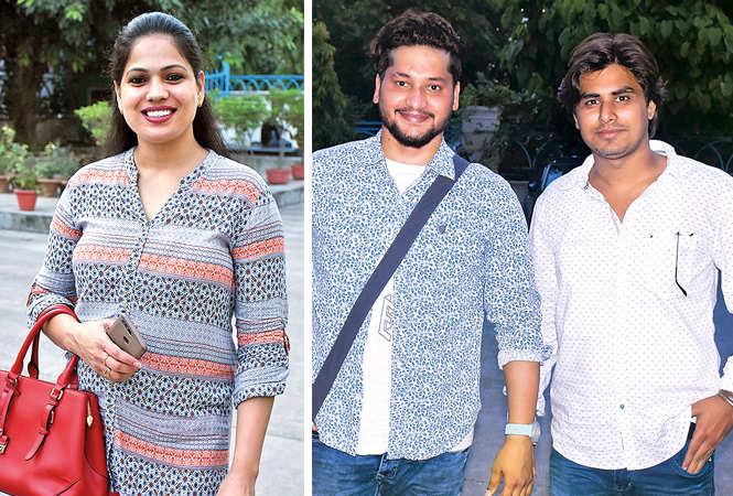 (L) Aditi Mishra (R) Gaurav Soni and Pawan Tiwari (BCCL/ Vishnu Jaiswal)