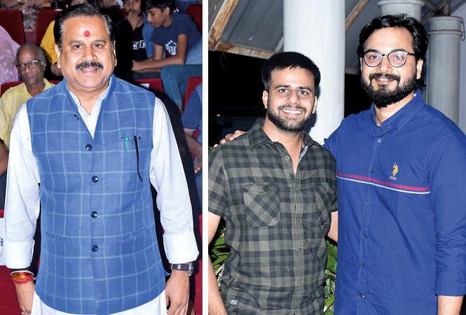 (L) Dr Mahendra Singh (R) Raj Vardhan and Vijit Singh (BCCL/ Vishnu Jaiswal)