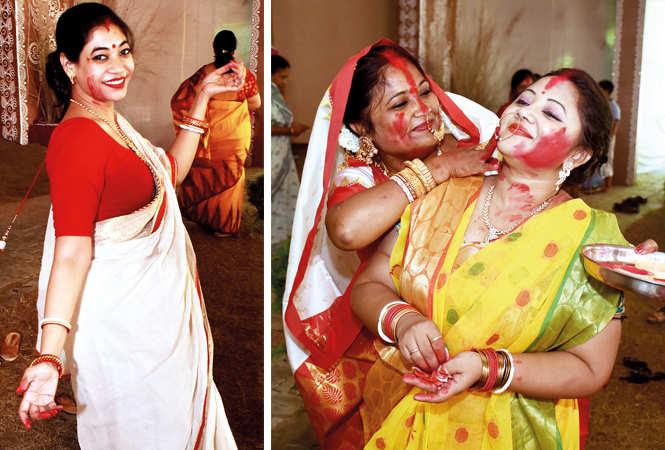 (L) Shweta Kirti (R) Alka Sarkar and Arpita Roy (BCCL/ Vishnu Jaiswal)