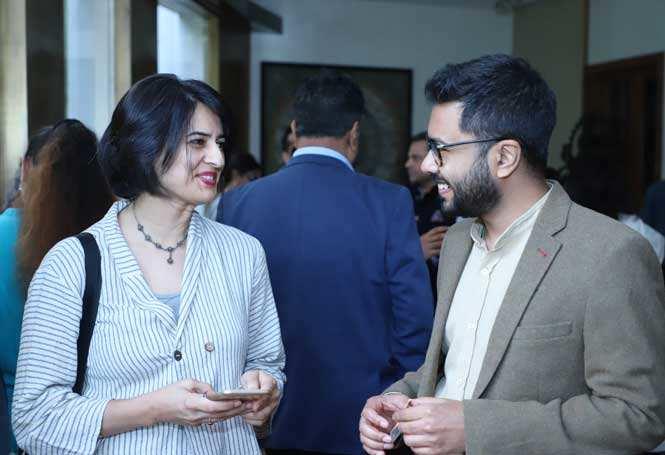 SheThePeople.TV founder Shaili Chopra with Kanishk Kabiraj, India lead, Girl Effect
