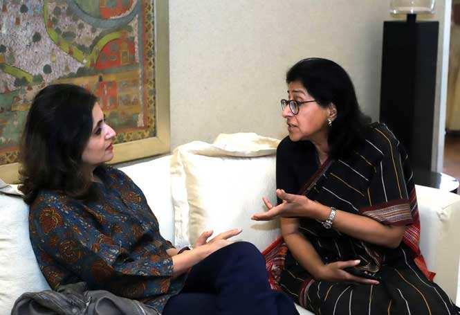Journalist Sagarika Ghose with banker Naina Lal Kidwai