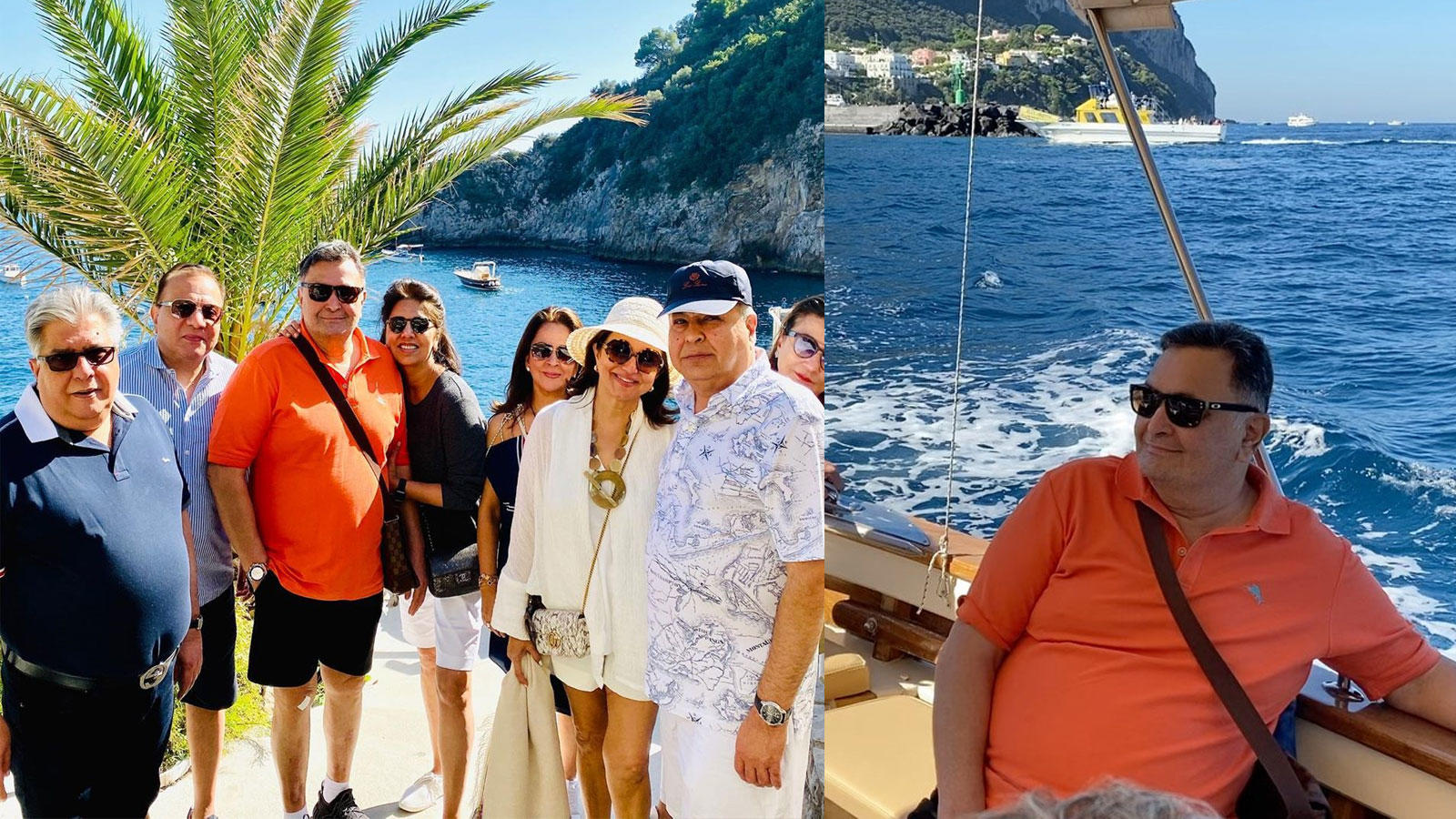 Rishi Kapoor and Neetu Kapoor sail away to Positano with 'crazy' friends, actress shares stunning views en route