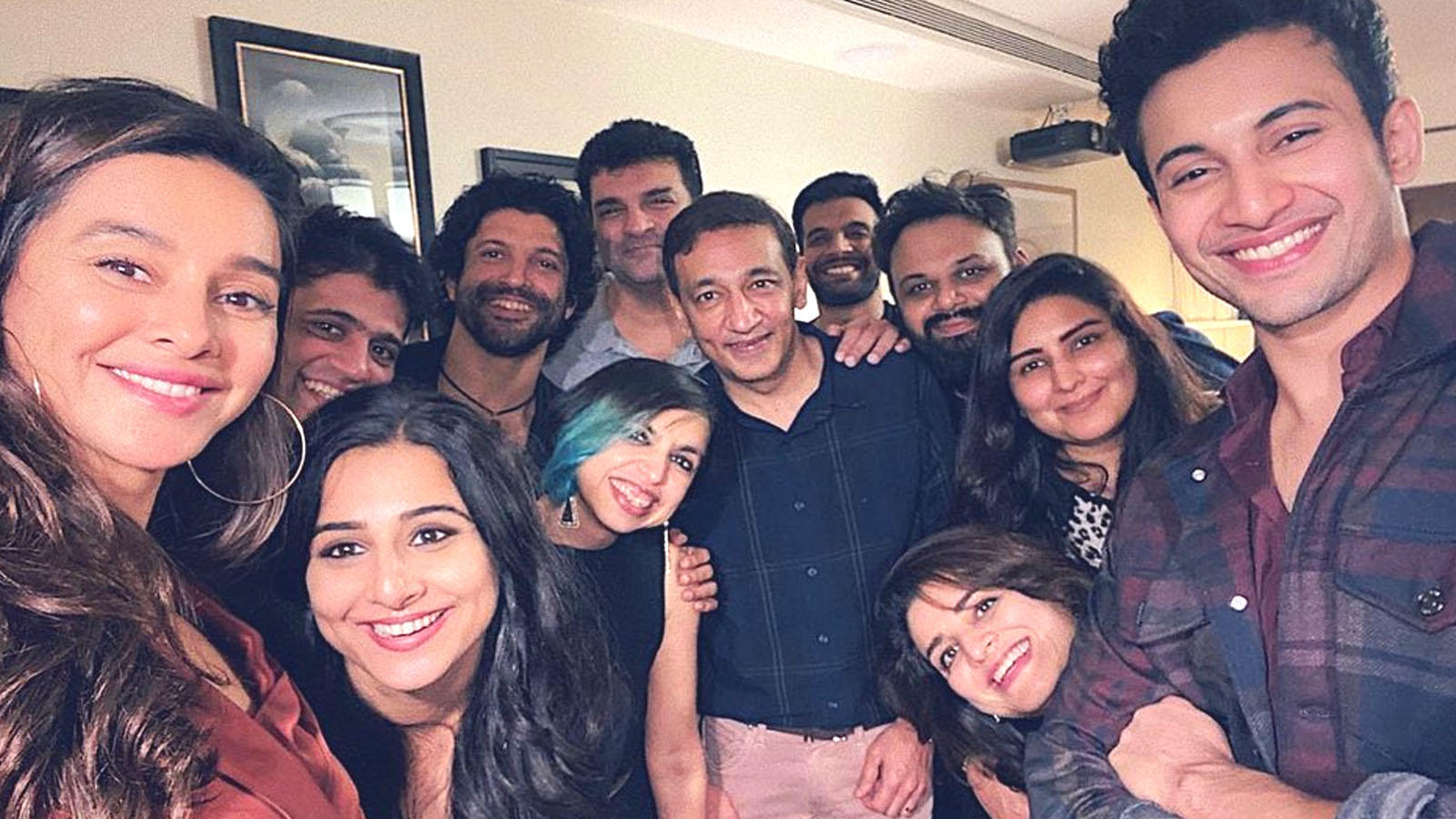 The Sky Is Pink: Farhan Akhtar and Shibani Dandekar celebrate film's success with Vidya Balan sans Priyanka Chopra