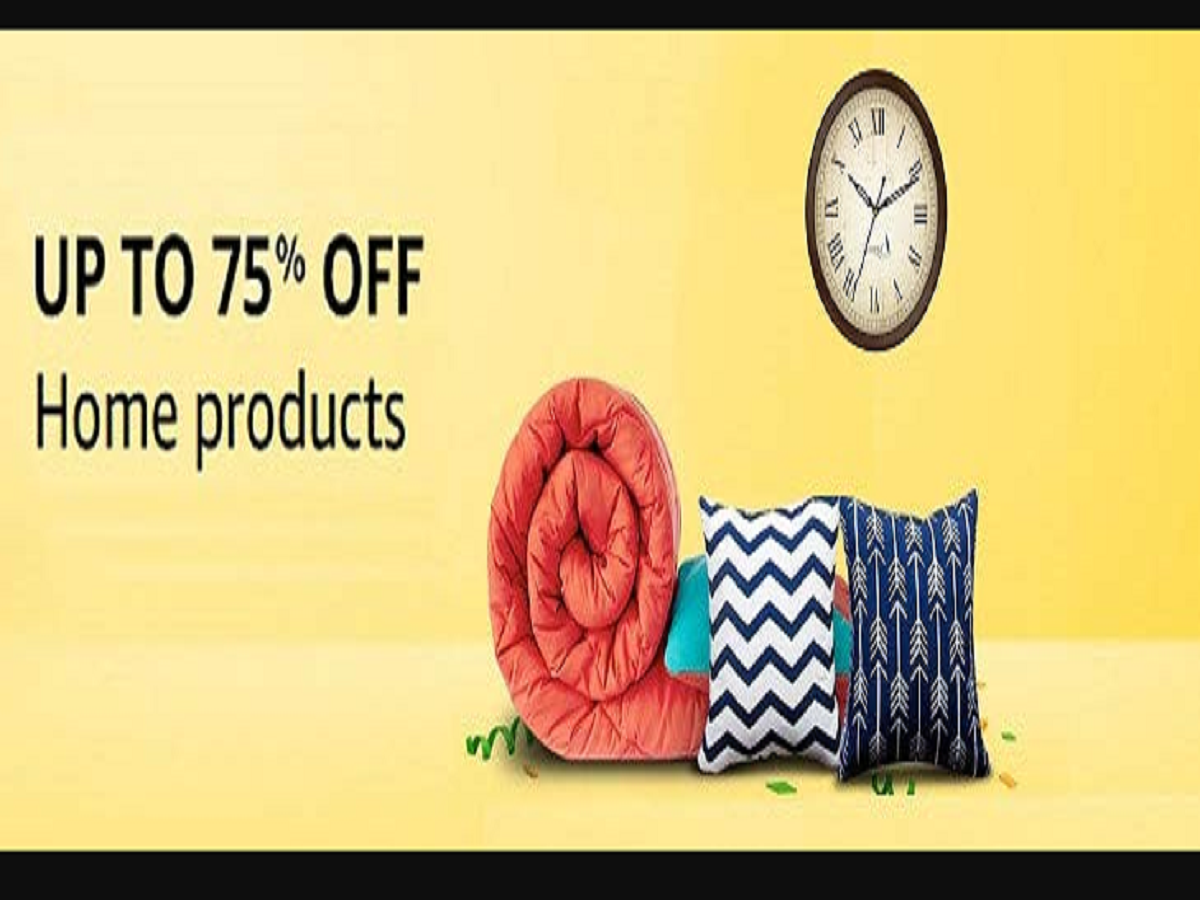 Amazon Sale: Up to 75% off on Bed sheets, Cushion Covers, Paintings & more