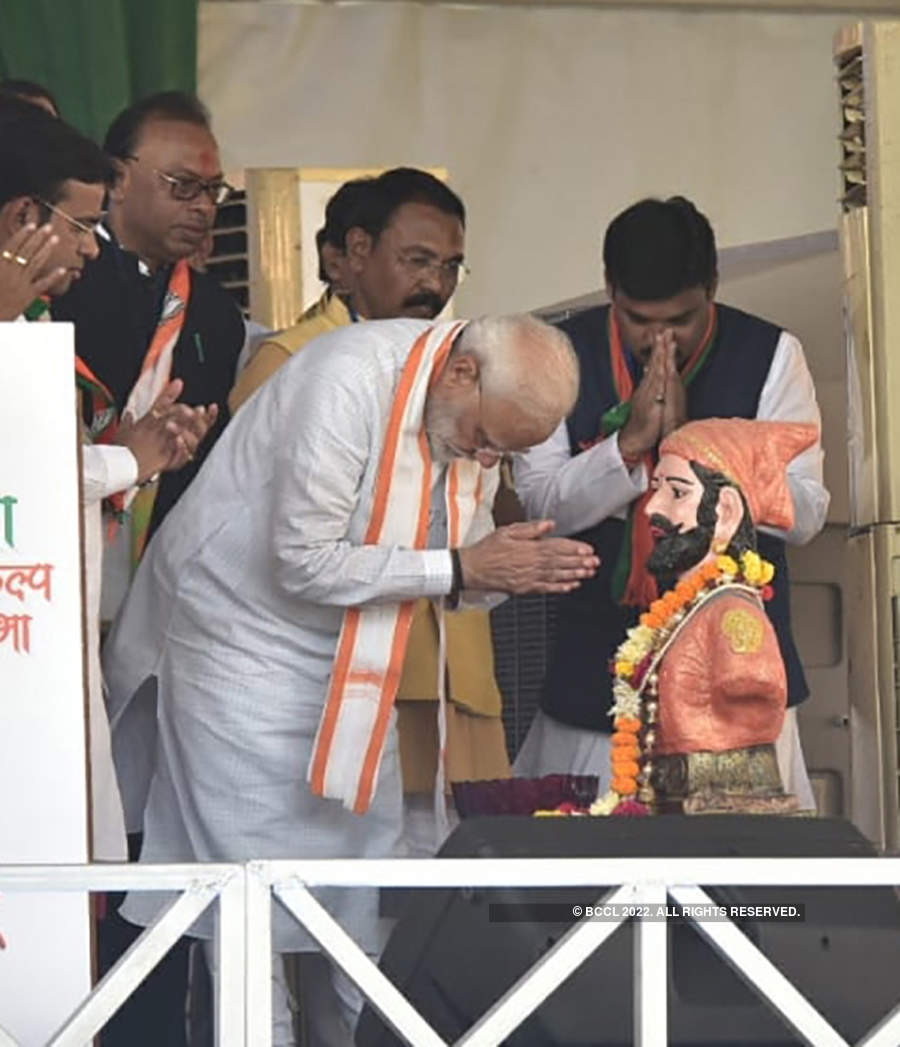 Pictures from PM Modi's election rally in Vidarbha