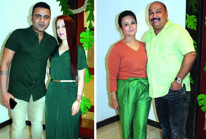 (L) Karan and Riya (R) Rishika and Shashank Basu (BCCL/ Arvind Kumar)