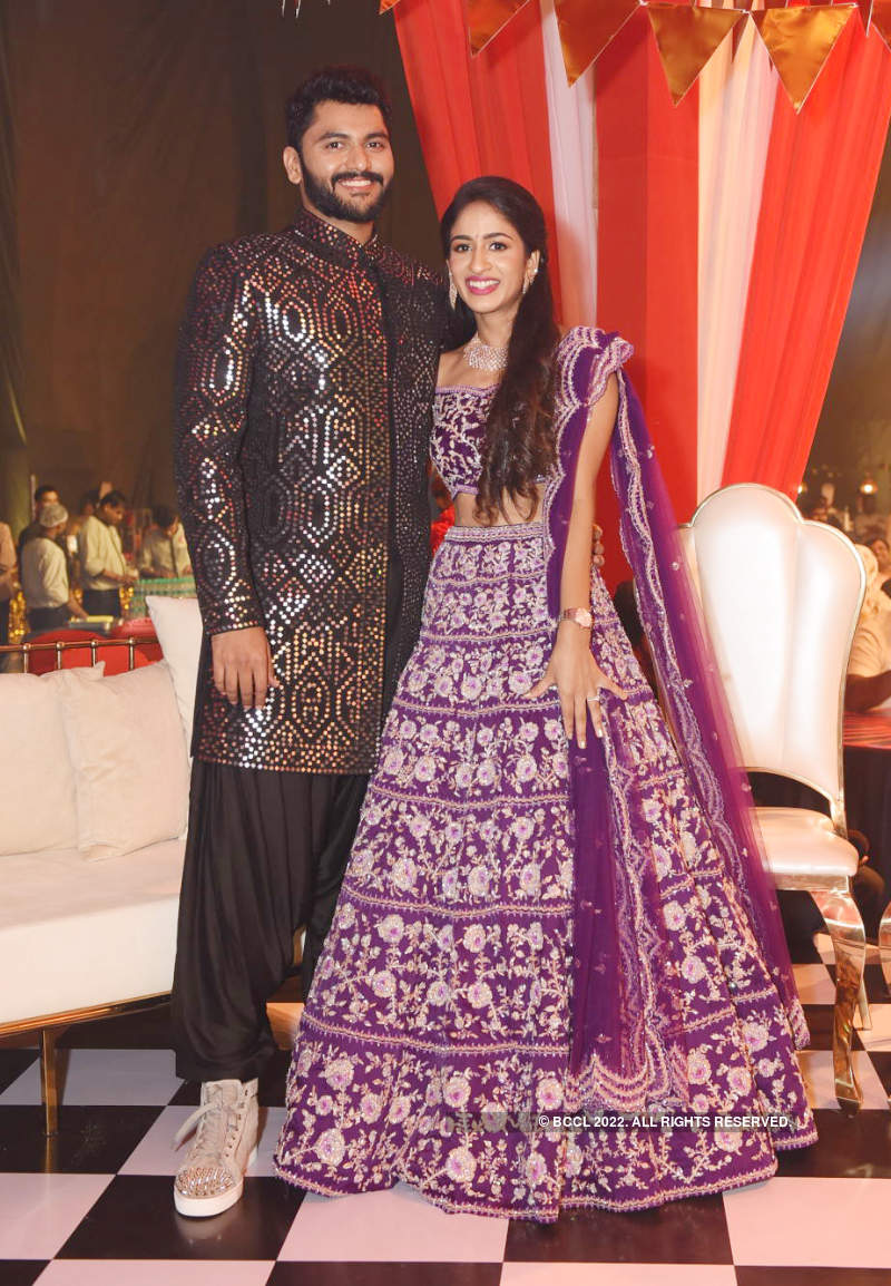 Guests have a gala time at Ashmitha and Abhinay's pre-wedding party