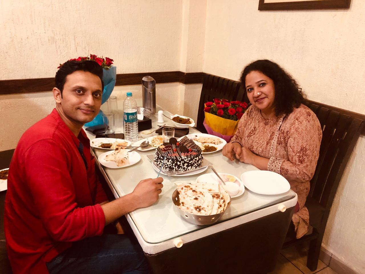 Zeeshan with his wife