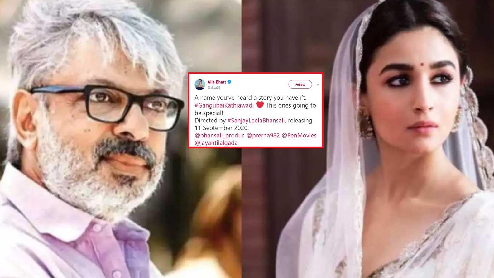 Confirmed! Alia Bhatt roped in for Sanjay Leela Bhansali's 'Gangubai Kathiawadi'