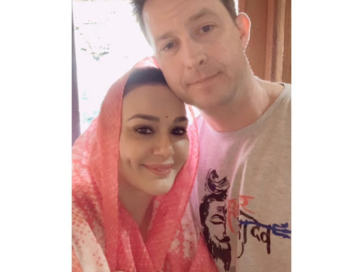 Preity Zinta's Karwa Chauth with Gene Goodenough