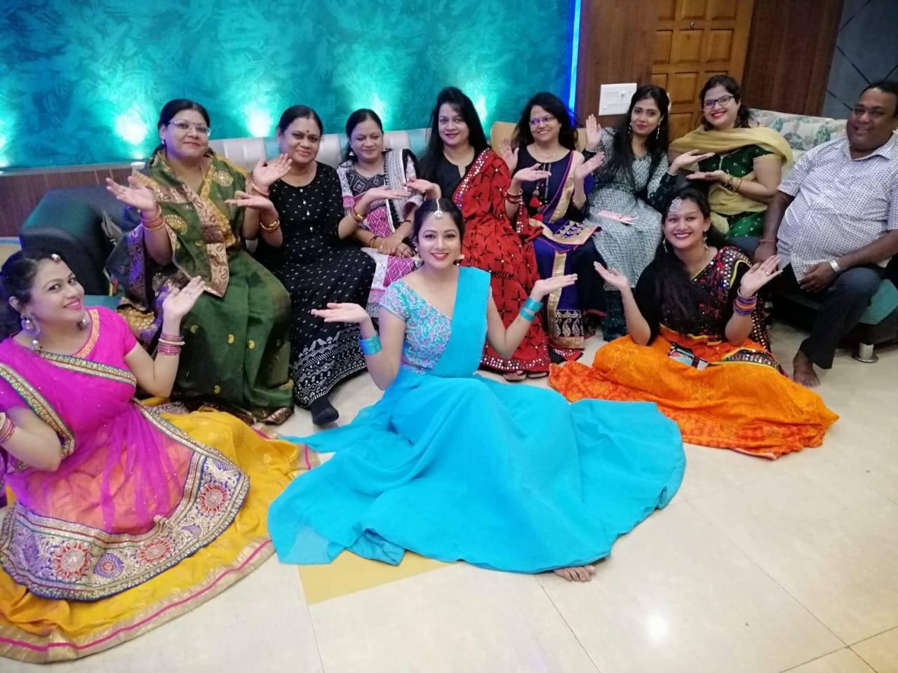 Archita family celebrating Kumar Purnima.