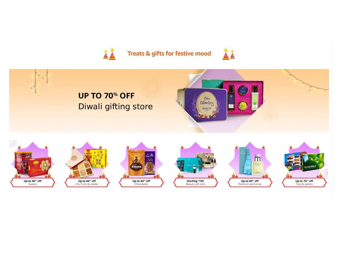 Diwali gifts: Up to 70% off on perfumes, sweets & more gifts