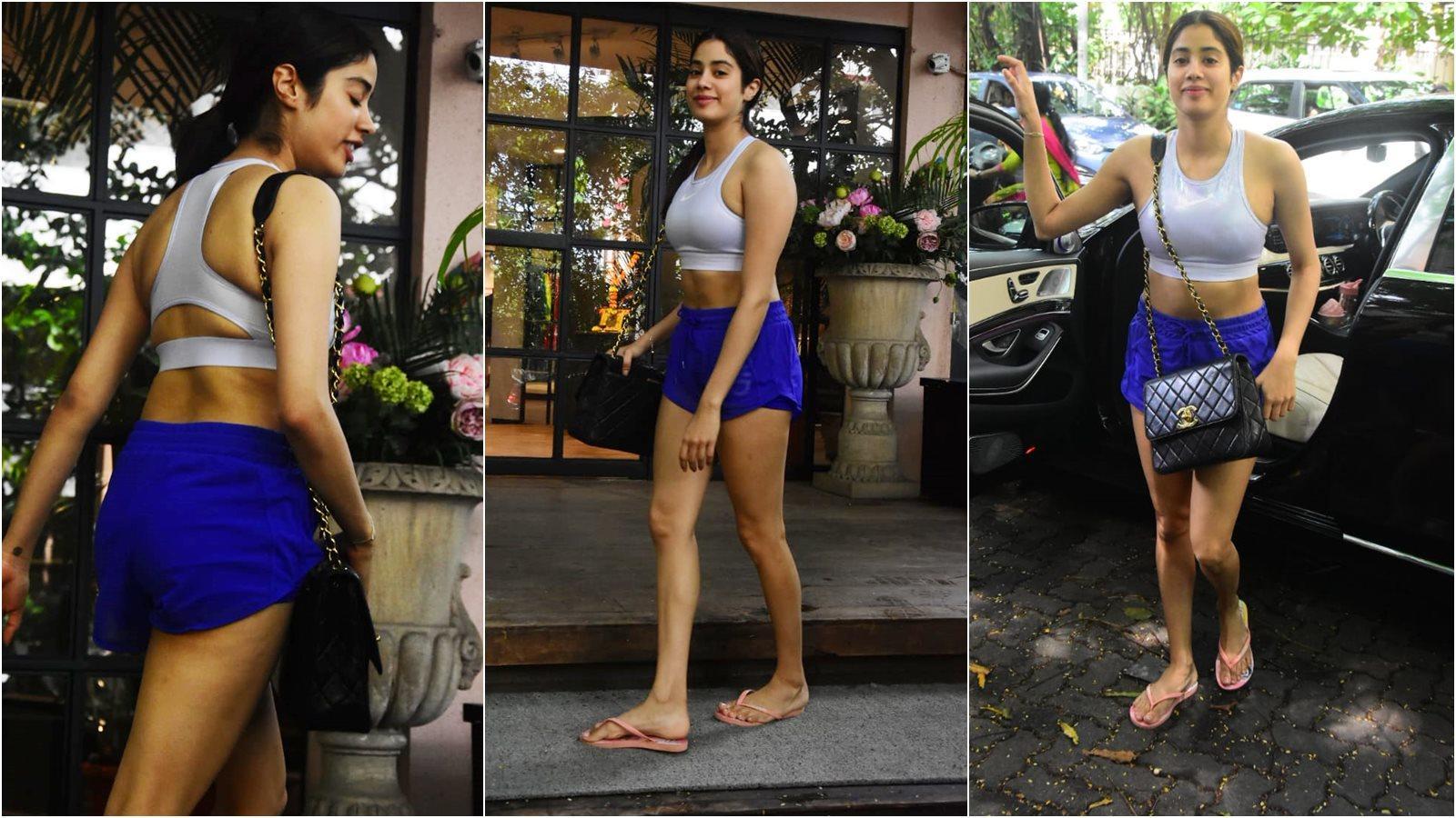 Janhvi Kapoor flaunts toned midriff as she slays in stylish athleisure post workout session