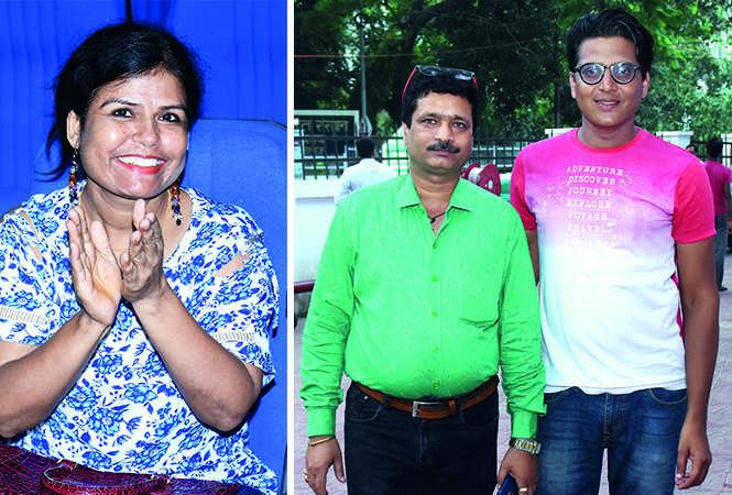 (L) Dr Jayanti Srivastava (R) Ram Kumar and Sameer Srivastava (BCCL/ Vishnu Jaiswal)