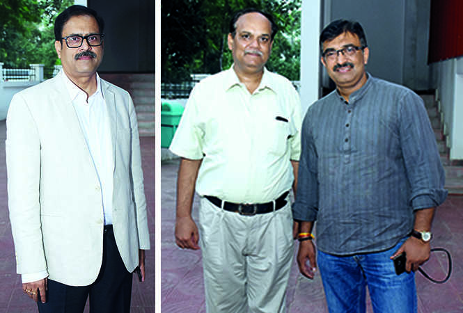 (L) Lalit Tiwari (R) Yogesh Mishra and Amit (BCCL/ Vishnu Jaiswal)