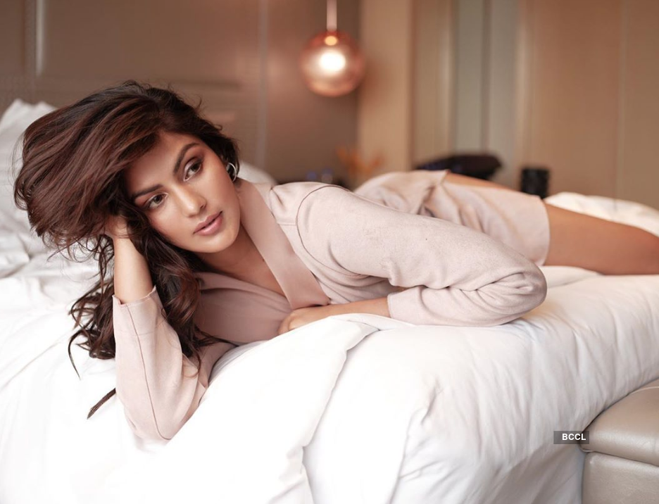 Rhea Chakraborty is turning up the heat with her captivating photoshoots