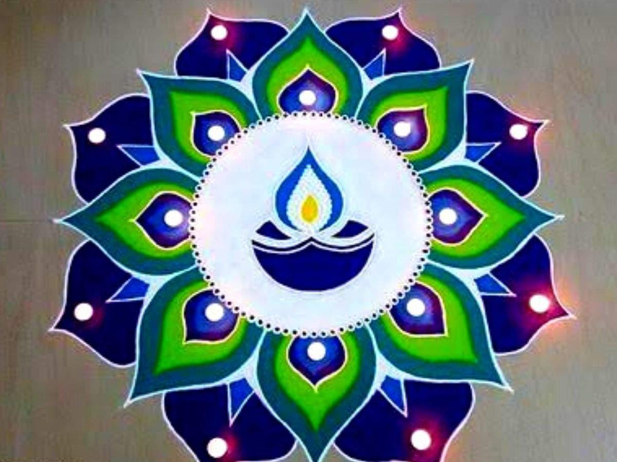 Diwali Colourful rangoli Designs