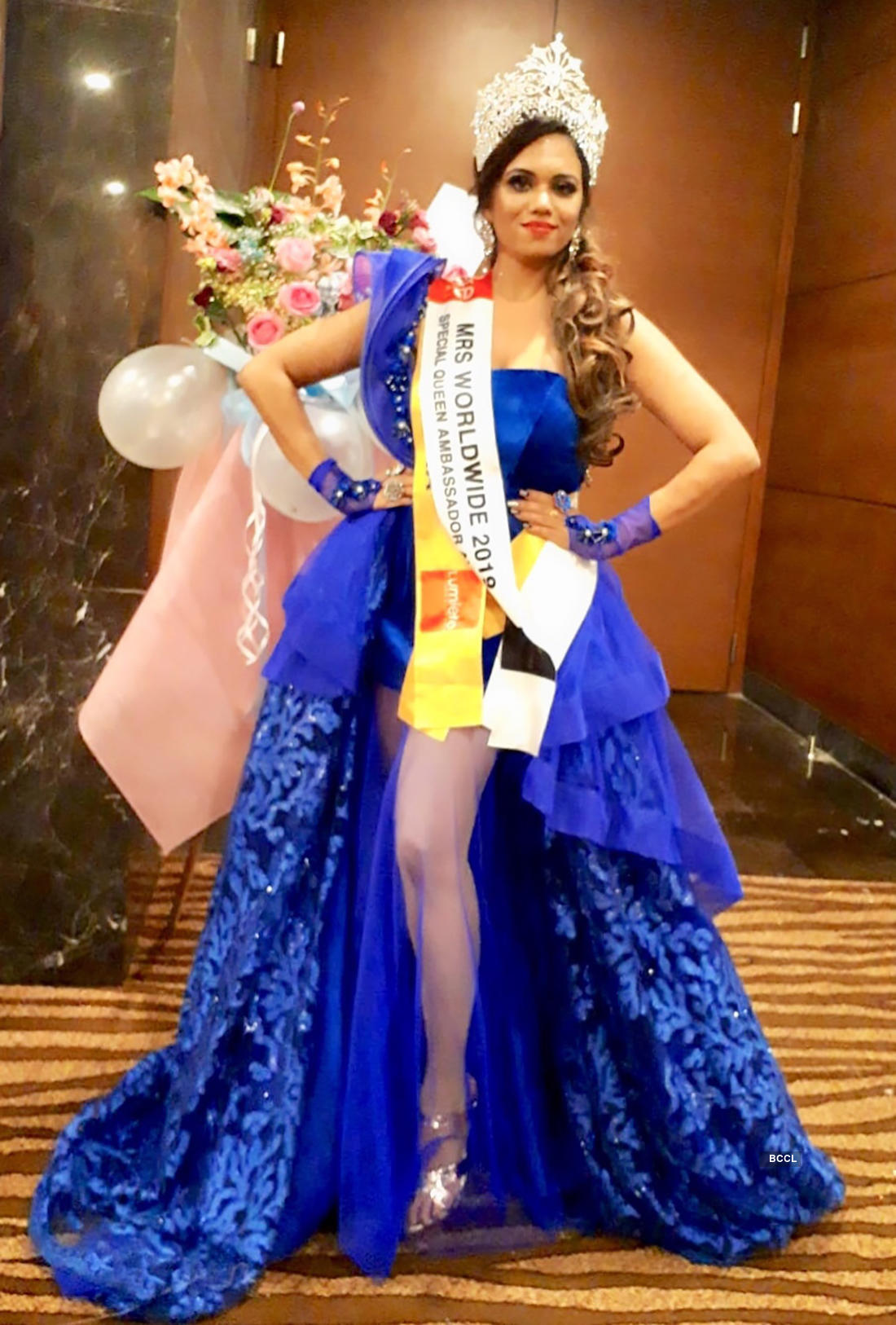 Pictures of the gorgeous Shwetha Niranjan who bags a title at an International Beauty Pageant