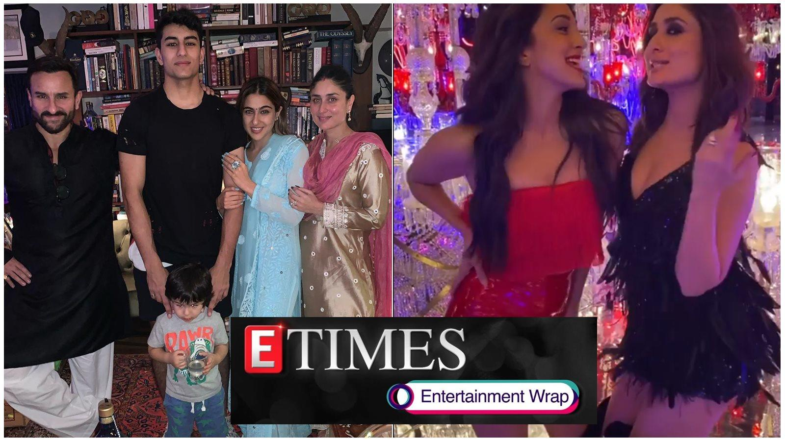 Sara Ali Khan celebrates Diwali with father Saif Ali Khan and family; Kiara Advani channels her inner 'Poo' with the help of Kareena Kapoor, and more...