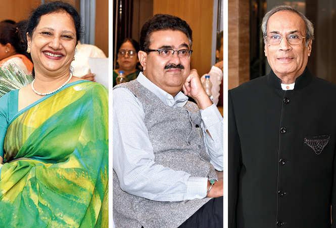 (L) Sadhna Agarwal (C) Navneet Sehgal (R) RN Bhargava (BCCL/ Farhan Ahmad Siddiqui)