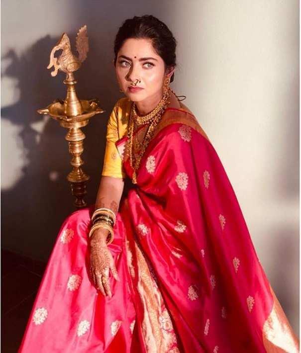 Sonalee Kulkarni: Sonalee Kulkarni gives us some major saree inspo | Marathi Movie News - Times of India