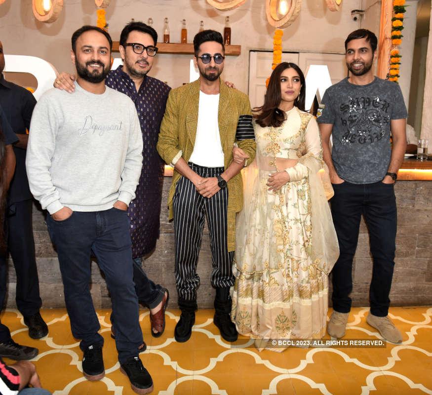 Ayushmann Khurrana, Bhumi Pednekar and team 'Bala' enjoy Diwali brunch