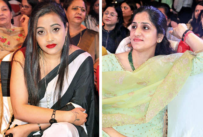 (L) Nisha Singh (R) Nidhi Kapoor (BCCL/ Arvind Kumar)