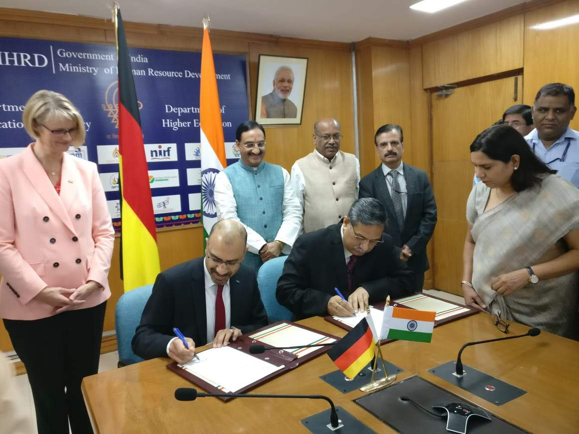 Indo-German partnership on higher education to involve investments of 3.5 million euros each by the two countries
