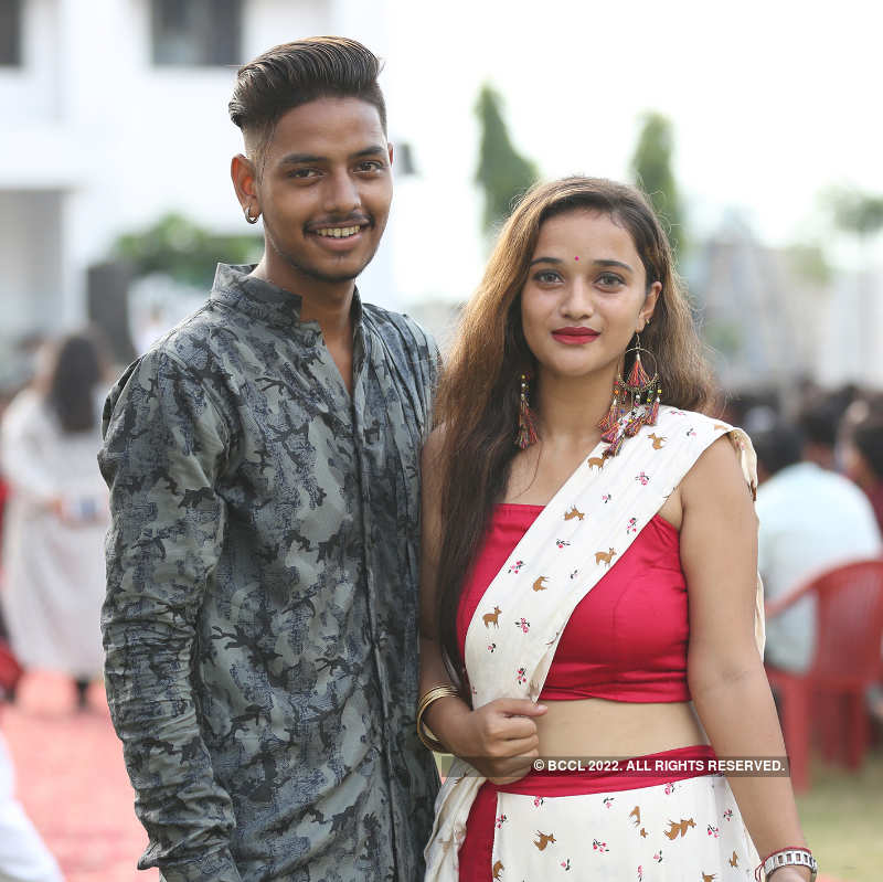 Students enjoy at freshers party