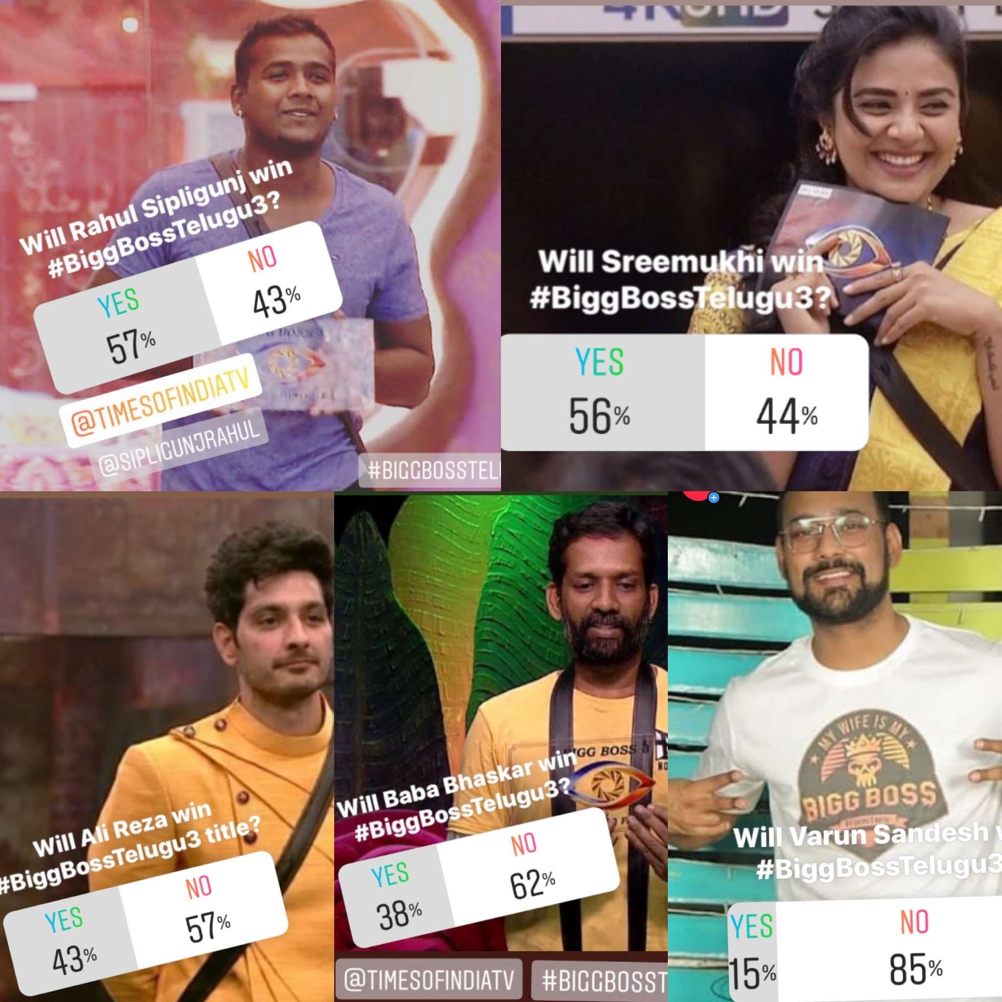BB Telugu 3 Instagram poll result