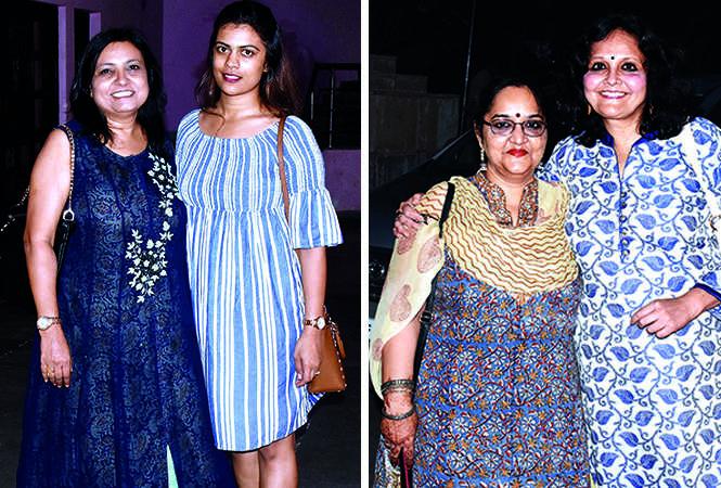 (L) Anisha and Hansika (R) Aparna Bhargava and Mini Bajpae (BCCL/ Vishnu Jaiswal)
