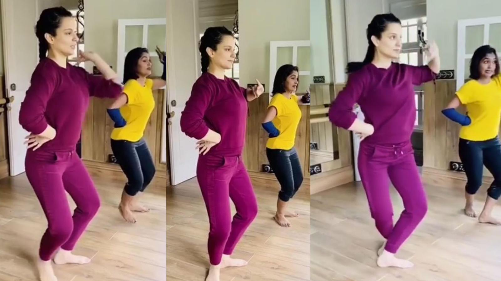Kangana Ranaut hones dance skills for late Tamil Nadu Chief Minister Jayalalithaa's biopic at her Manali residence