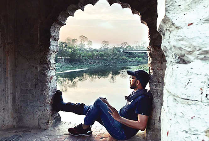 Amit Sharma, Director of the film Maidaan, posted a picture online from his Lucknow visit (BCCL)