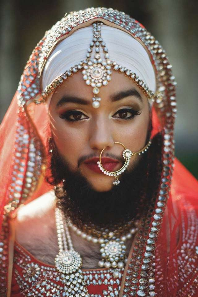 Harnaam Kaur on the cover of a magazine