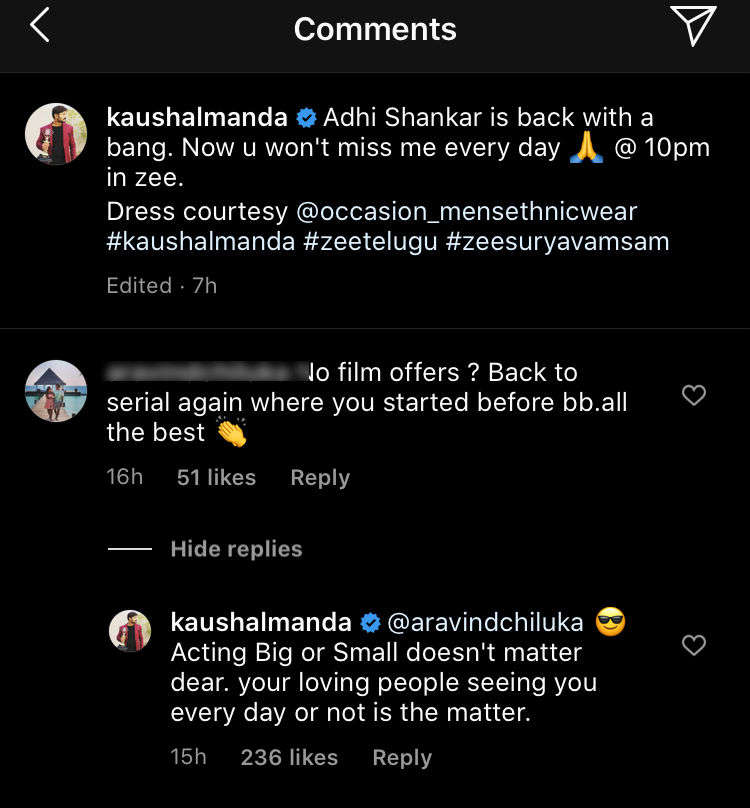 Kaushal's reply