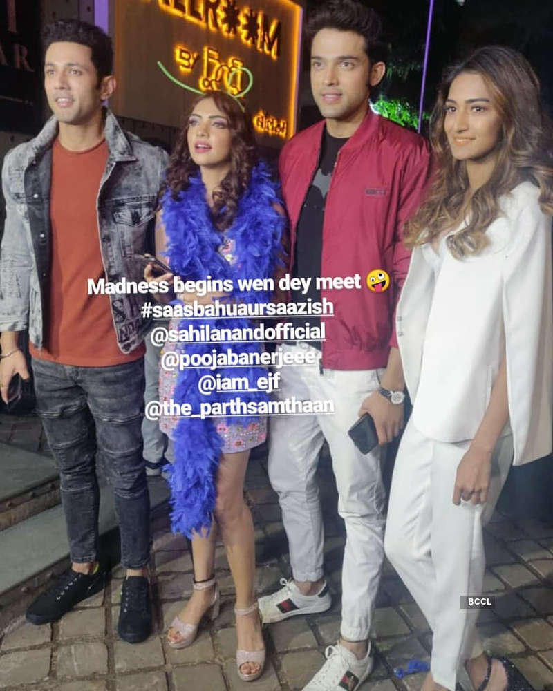 Inside pictures from Kasautii Zindagii Kay actress Pooja Banerjee's starry birthday party