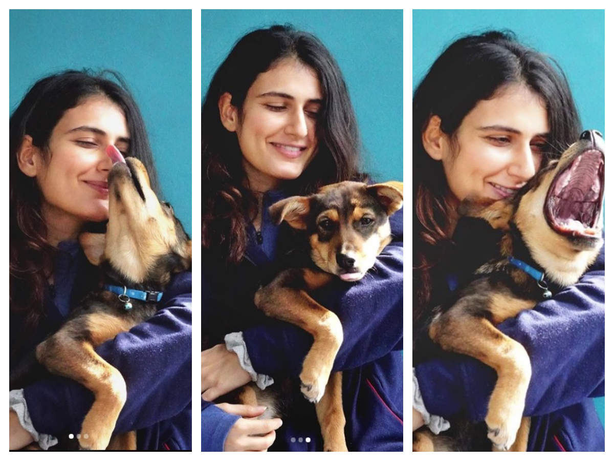 Fatima Sana Shaikh's pictures with her pet 'Nush' is simply too sweet for words - Times of India