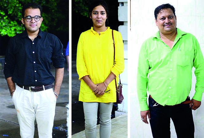 (L) Anjal Singh (C) Ayushi Sharma (R) Shaliendra Singh (BCCL/ Pankaj Singh)
