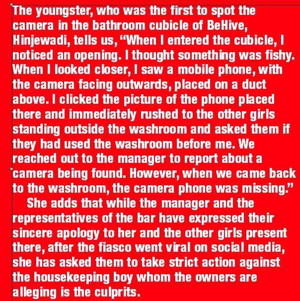 Female washrooms...